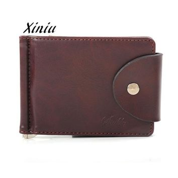 Women Men Wallets Ultra-thin Leather Money Bag Slim Wallets Male Business ID Credit Card Holder Coin Purse Cash Holder Wallet