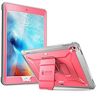 iPad 9.7 2017 case, SUPCASE [Heavy Duty] [Unicorn Beetle PRO Series] Full-body Rugged Protective Case with Built-in Screen Protector & Dual Layer Design for Apple iPad 9.7 inch 2017 (Pink/Gray)