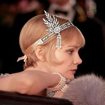 SALE  The Great Gatsby Inspired Pearl Austrian Crystal Hair Tiara