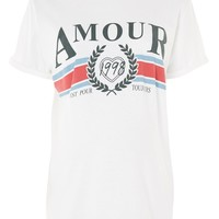 MATERNITY 'Amour' Slogan T-Shirt - Sale