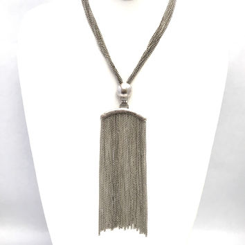 With All My Fringe Silver Necklace Set