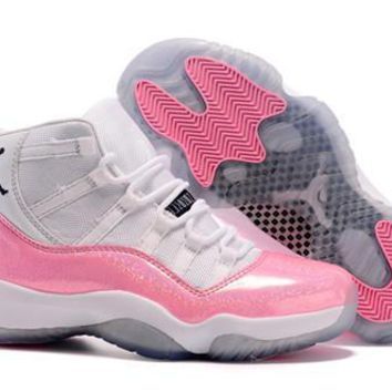 Hot Air Jordan 11 Women Shoes Colorful White Pink