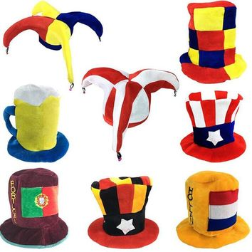Kids Adults Carnival Party Hats Clown Football Beer Hats Caps Performance Props Halloween Party Costume Accessories
