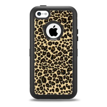 The Small Vector Cheetah Animal Print Apple iPhone 5c Otterbox Defender Case Skin Set