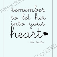 Hey Jude The Beatles Lyric Printable Digital by MissInsouciance