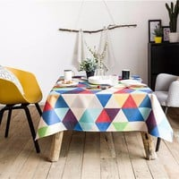 Colorful Triangle Indoor / Outdoor Tablecloth