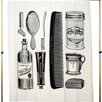 Izola 701 Apothecary Canvas Shower Curtain