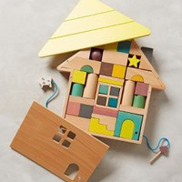 Building Blocks House Puzzle by Anthropologie Multi One Size House & Home