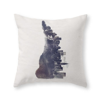 Society6 Fox From The Cit Throw Pillow