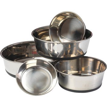 House Of Paws Stainless Steel Dog Bowl With Silicon Base (s)