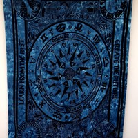 English Season Zodiac Tapestries, Indian Dorm Decor, Psychedelic Tapestry Wall Hanging Ethnic Decorative