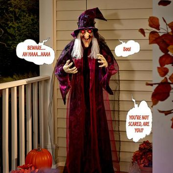 "Wicked Witch Talking Witch Creepy 71"" Hanging Home Decorations"