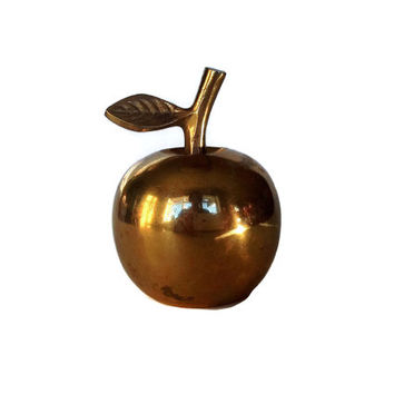 Vintage Bell, Brass Apple Bell, Gift for Teacher