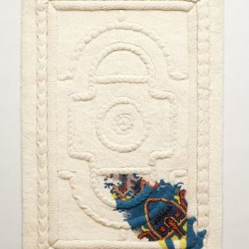 Roped Relief Rug by Judith Watson  Ivory