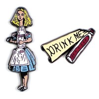 Alice + Drink Me Collar Pin Set