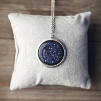 Aquarius for February - Constellation necklace - Pick your zodiac sign (N088)
