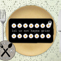 Lol Ur Not Hayes Grier Quote Daisy Pattern Custom Rubber Tough Phone Case For The iPhone 4 and 4s and iPhone 5 and 5s and 5c