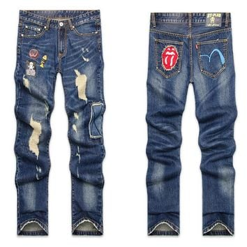 Winter Men Pants Korean Jeans [6528534531]
