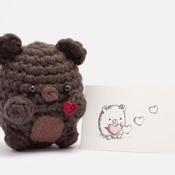 Amigurumi Valentine Teddy Bear Part Two : Shop Crochet Teddy Bear on Wanelo
