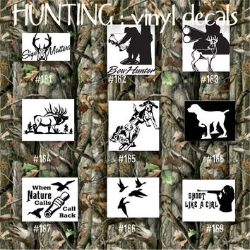 HUNTING vinyl decals - 181-189 - car decal - hunter stickers - hunting car sticker