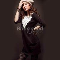 NEW Womens Half sleeve Top T-shirt Black Coffee S-M Free Shipping!  - US$13.99