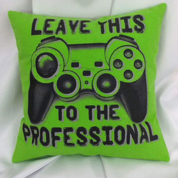 Professional gamer pillow cover. Video Game Bedding