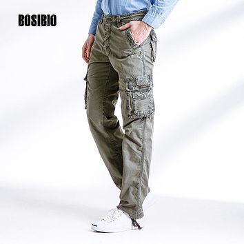 Tactical Military Pants straight multi pockets working overalls 2017 summer spring New Arrival Men's Cotton Cargo Pants 3287F1