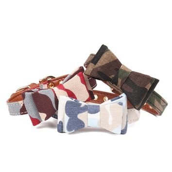 Pet Dog Bandana Collar Bowknot Tie Leather Lead Leash With Clip Neckerchief