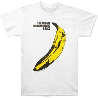 Velvet Underground Men's  Banana T-shirt White
