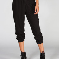 Full Tilt Banded Bottom Womens Challis Pants Black  In Sizes