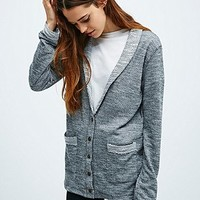 Mouchette French Terry Cardigan in Grey - Urban Outfitters