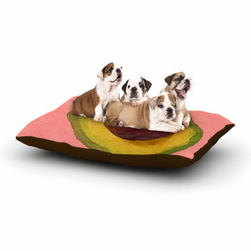 "Oriana Cordero  ""Avocado For Lola"" Green Pink Dog Bed"