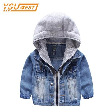 Kids Denim Jacket For Boys Jean Coat Clothing Fashion Causal Girls Cardigan Children Outerwear Cowboy Toddler Hodded Jackets