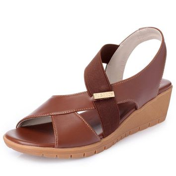 Splicing Casual Wedges Sandals
