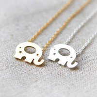 Elephant Necklace / Choose your color / gold and silver
