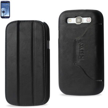 Reiko Fitting Case Samsung Galaxy S3/ I9300 Horse Skin Texture Black