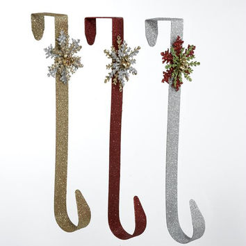 18 Artificial Wreath Hangers - Decorated