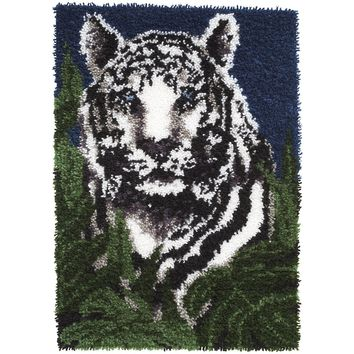 "White Tiger Wonderart Latch Hook Kit 24""X34"""