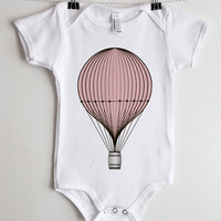 Pink Balloon Baby Onesuit