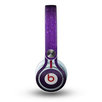 The Purpled Crackled Pattern Skin for the Beats by Dre Mixr Headphones