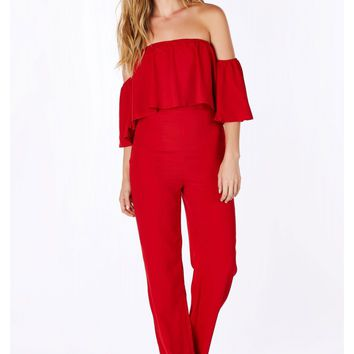 Two In One Off Shoulder Jumpsuit
