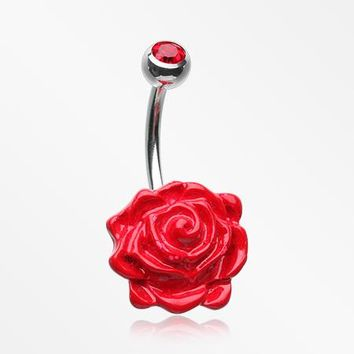 Rose Bloom Priva Belly Button Ring
