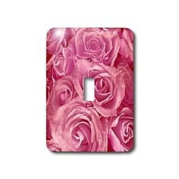3dRose lsp_29891_1 Close Up Scene Of Dreamy Soft Pink Roses Single Toggle Switch