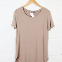Timeless Tee, Taupe