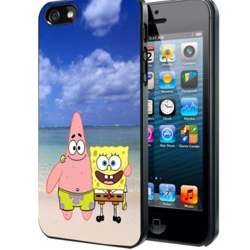Spongebob And Patrick Summer Beach Samsung Galaxy S3 S4 S5 S6 S6 Edge (Mini) Note 2 4 , LG G2 G3, HTC One X S M7 M8 M9 ,Sony Experia Z1 Z2 Case