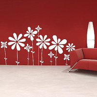 Large Beautiful Flowers Vinyl Wall Decal Sticker