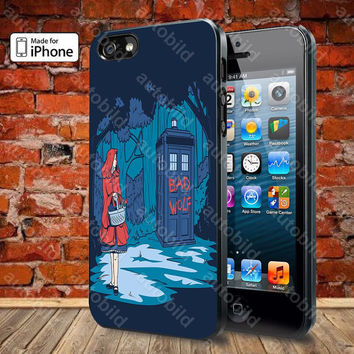 Tardis Little Red Riding Hood Case For iPhone 5, 5S, 5C, 4, 4S and Samsung Galaxy S3, S4