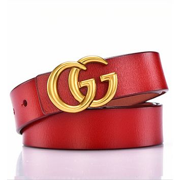 GUCCI Women's Elegant Trendy Vintage Belts red