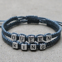 King Queen Bracelets,  Couples Bracelets,Boyfriend Girlfriend Jewelry,Best Chosen Gift