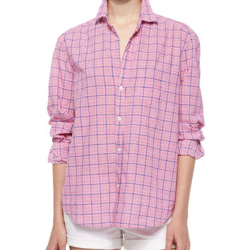 Women's Eileen Long-Sleeve Plaid Cotton Shirt, Red - Frank & Eileen - Red plaid